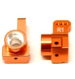 STRC SPTSTC91418T1O  CNC MACHINED AUlMINUM REAR HUB CARRIERS (1 PAIR) 1 DEG TOE-IN FOR DR10 (ORANGE)