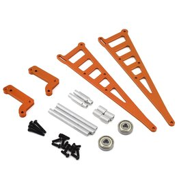 STRC SPTSTC710710O CNC MACHINED ALUM. WEELIE BAR MOUNT FOR DR10 (ORANGE)