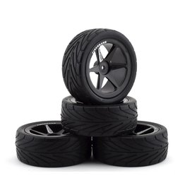 FIRE BRAND RC FBR1WHENEO992 NEO RT 2.2 PRE-MOUNTED ON-ROAD TIRES (4) (BLACK)