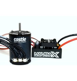 CASTLE CREATIONS CSE010015511 MAMBA X SENSORED BRUSHLESS COMBO W/ 3800kV SLATE