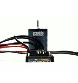 CASTLE CREATIONS CSE010016201 MAMBA MICRO X 12.6V ESC,1406-1900KV Sensored Combo