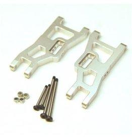 STRC SPTST3631XS FRONT A-ARMS W/PINS STAMPEDE/ RUSTLER / SLASH ALUM (SILVER)