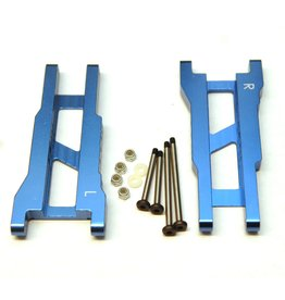 STRC SPTST2555XB CNC MACHINED ALUMINUM REAR A-ARMS BLUE: SLASH 2WD