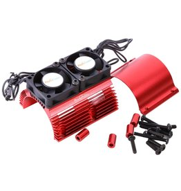 POWER HOBBIES PHBPH1289RED POWER HOBBY HEAT SINK WITH TWIN FAN