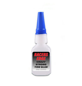 RACERS EDGE RCE5150 CRAZY STRONG TIRE GLUE W/ PIN CAP & TIP: 2OZ