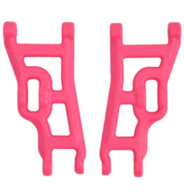 RPM RPM80247 FRONT A- ARMS, PINK: TRAXXAS 2WD