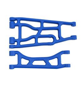 RPM RPM82355 UPPER & LOWER A-ARM PAIR, BLUE: TRAXXAS X-MAXX
