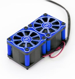 POWER HOBBIES PHBPHF116BLUE TWISTER TWIN DUAL 40MM FANS