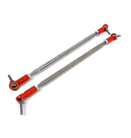 ROVAN RC RV8545102R MAX 5T TS CNC ALLOY/STEEL STEERING TURNBUCKLE LINKS, ALUMINUM ENDS (RED)