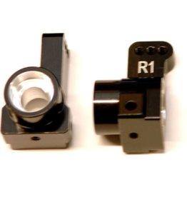 STRC SPTSTC91418-T1BK ST RACING CONCEPTS DR10 ALUMINUM REAR HUB CARRIERS (BLACK) (2) (1° TOE)