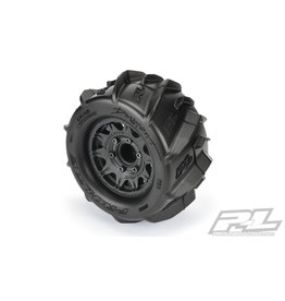 """PROLINE RACING PRO1019310 DUMONT PADDLE TIRES 2.8"""" MOUNTED (12MM)"""