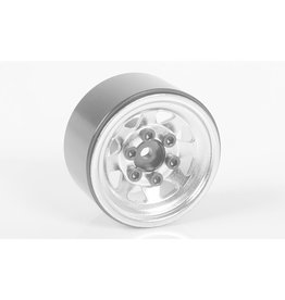 RC4WD RC4WDZW0111 STAMPED STEEL 1.0'' STOCK BEADLOCK WHEELS (WHITE)