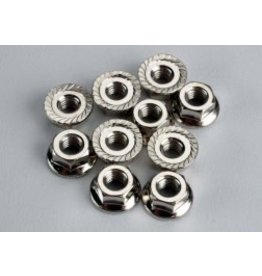 TRAXXAS TRA6135 NUTS, 4MM FLANGED (10)