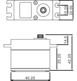 ECO POWER ECP-110T  WP110T Cored Waterproof High Torque Metal Gear Digital Servo