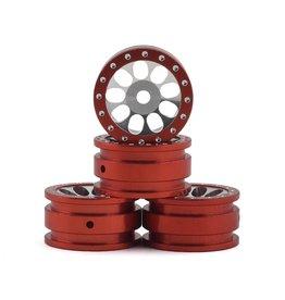 ORLANDOO HUNTERS OLHGA4010 ALUMINUM POROUS 9 HOLE WHEEL (RED) (4)