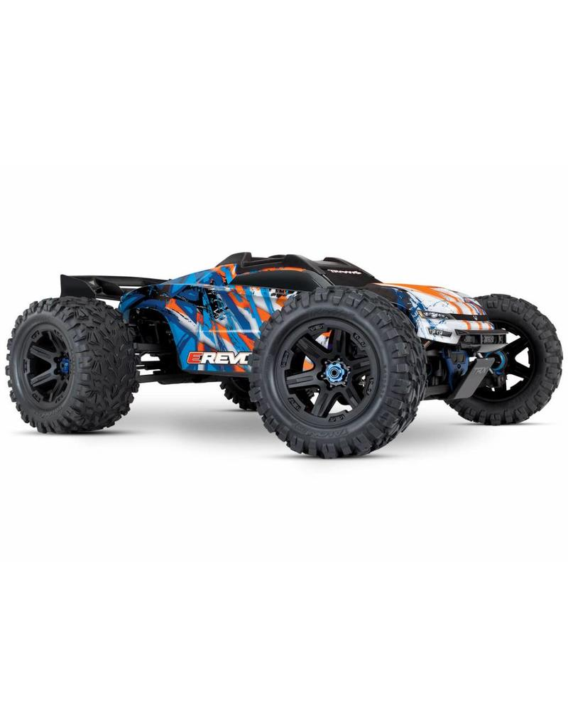 Tra86086 4 Orng E Revo Vxl Brushless 1 10 Scale 4wd Brushless Electric Monster Truck With Tqi 2 4ghz Traxxas Link Enabled Radio System And Traxxas Stability Management Tsm My Tobbies Toys Hobbies