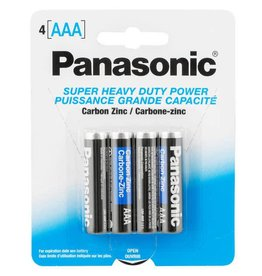 PANASONIC 4 PACK PANASONIC AAA BATTERIES (4)