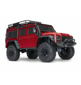 TRAXXAS TRA82056-4_RED TRX-4 SCALE AND TRAIL CRAWLER WITH LAND ROVER® DEFENDER® BODY:  4WD ELECTRIC TRAIL TRUCK WITH TQI TRAXXAS LINK ENABLED 2.4GHZ RADIO SYSTEM