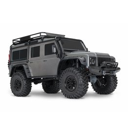 TRAXXAS TRA82056-4_SLVR TRX-4 SCALE AND TRAIL CRAWLER WITH LAND ROVER® DEFENDER® BODY:  4WD ELECTRIC TRAIL TRUCK WITH TQI TRAXXAS LINK ENABLED 2.4GHZ RADIO SYSTEM