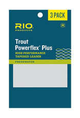 RIO Products Powerflex Plus 9ft Leader: 3 Pack