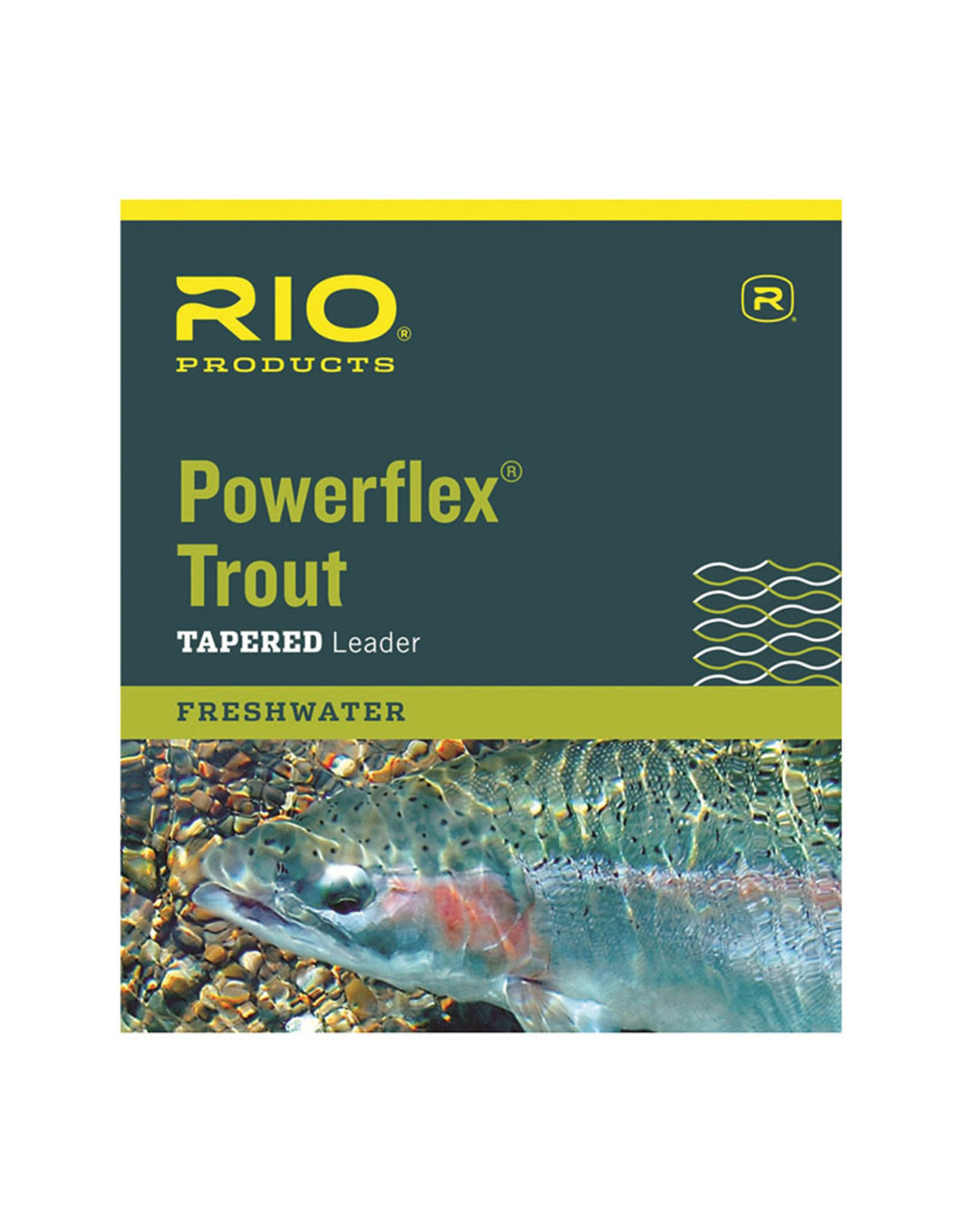 RIO Products Powerflex Trout 9ft Leader: 3 Pack