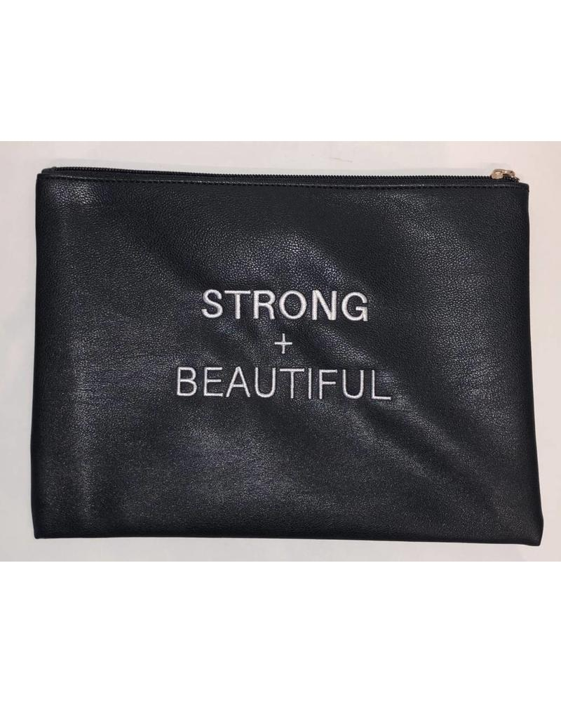 I AM MORE Strong + Beautiful Embroidered Bag