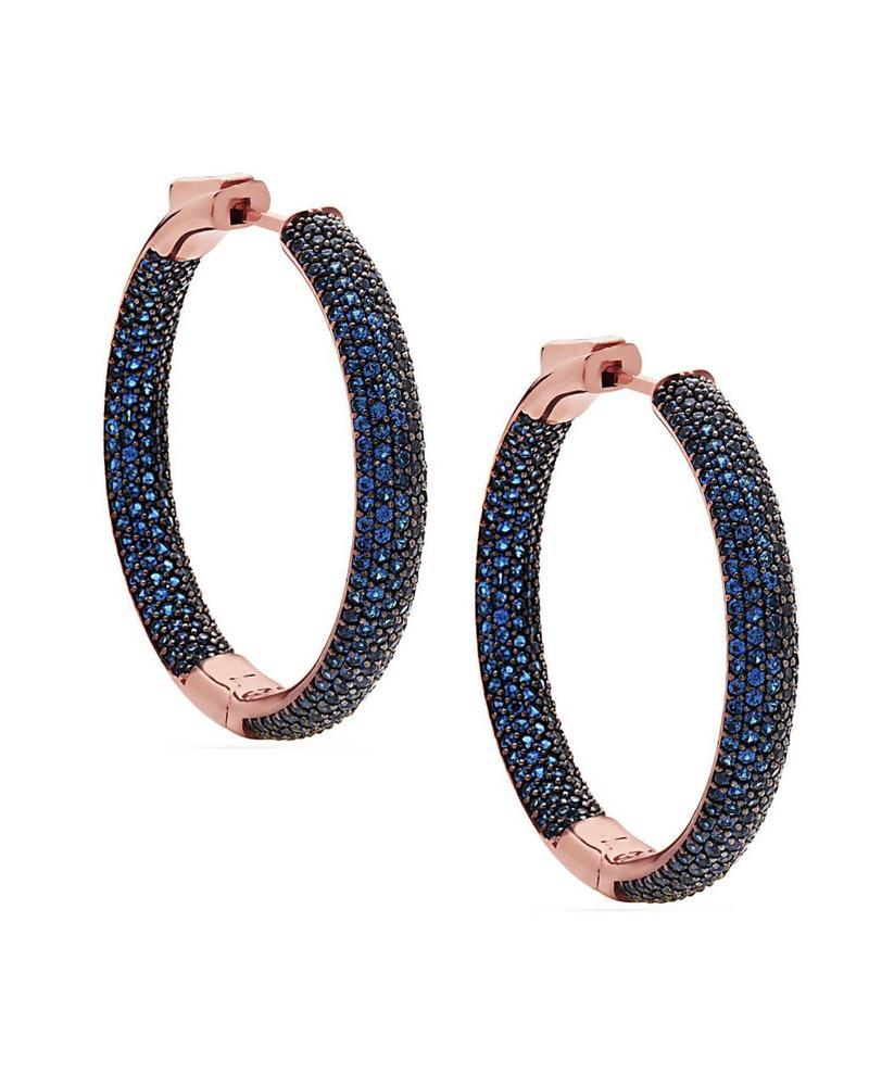 Nickho Rey Tire Rose Gold Dark Blue Earrings