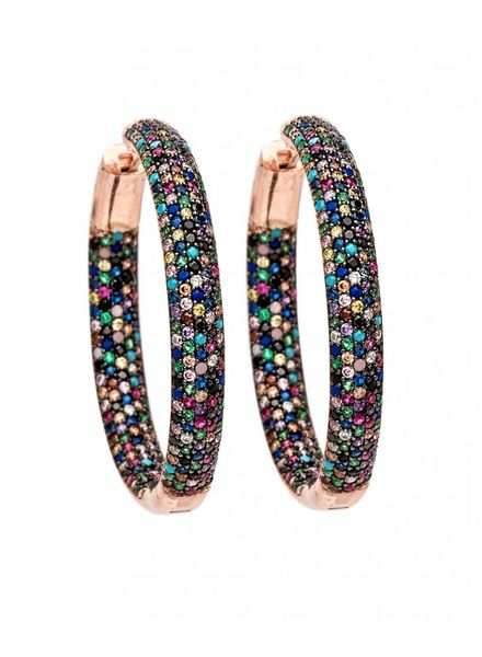 Nickho Rey Tire Rose Gold Multi Earrings