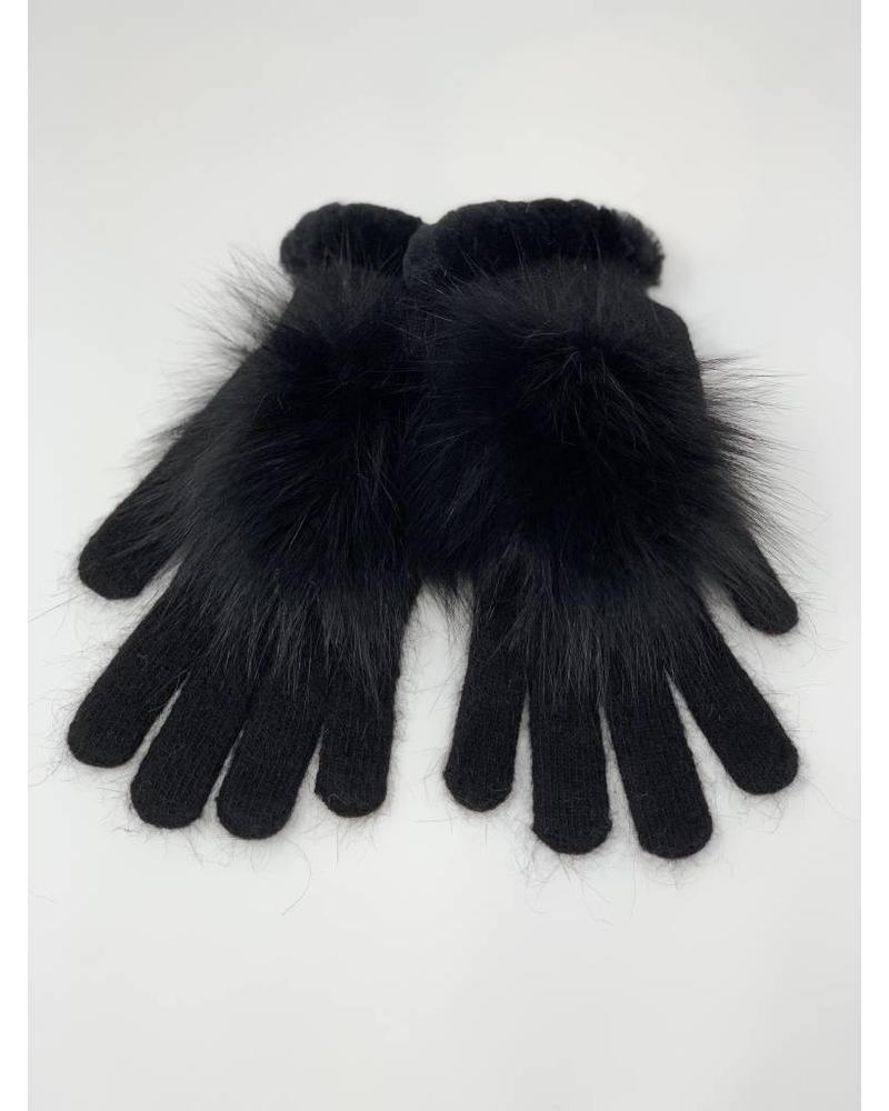 Glamourpuss NYC Knit Angora Blend Gloves and Rex Whipstitch GP804-RX