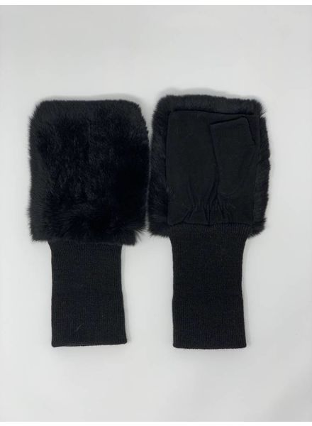 Glamourpuss NYC Fingerless Gloves with Rex Top