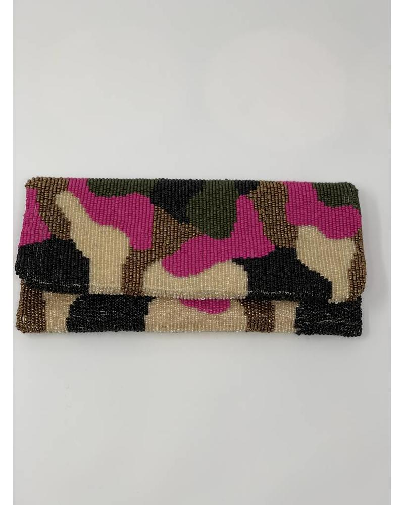 moyna Clutch Flap Camo Pink F18