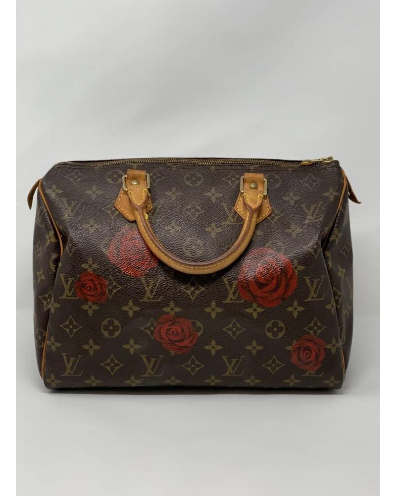 New Vintage Handbags Falling Roses Speedy