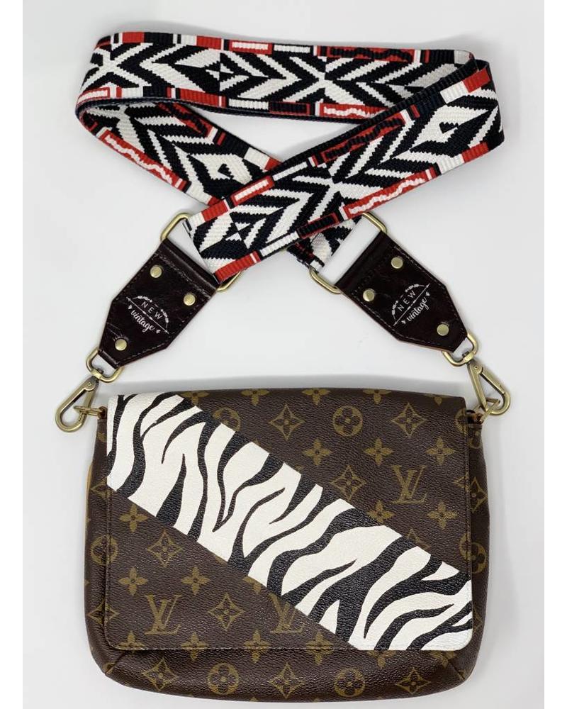 New Vintage Handbags Zebra Stripe