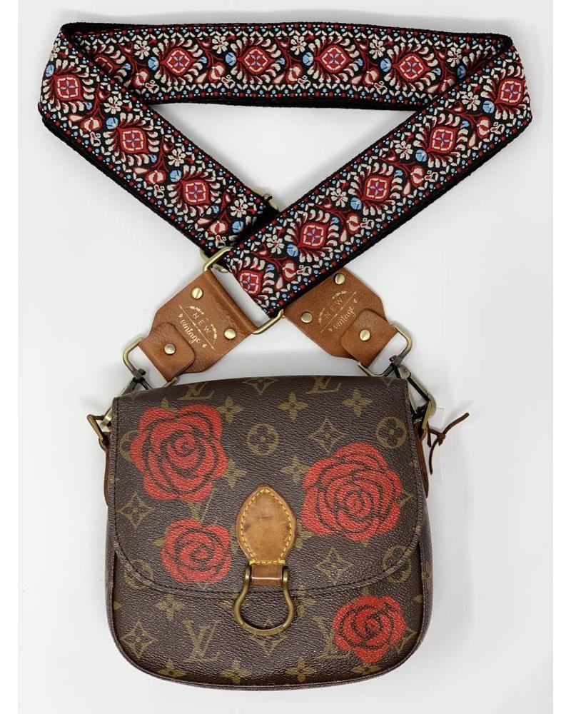 New Vintage Handbags Falling Roses