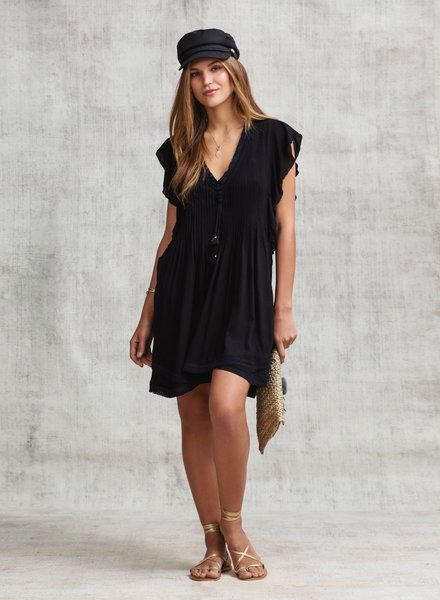 POUPETTE ST BARTH Mini Dress Mila Lace Trimmed Rg Pl S19
