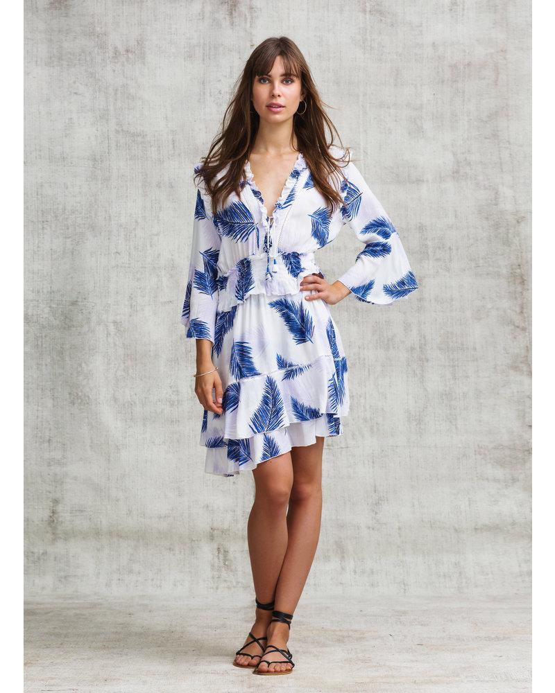 POUPETTE ST BARTH Mini Dress Rita Ruffled V Ck Pr S19