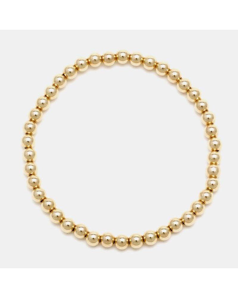 Karen Lazar 4mm beaded bracelet