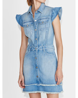 ei8htdreams Madison Frill Sleeve Denim Dress S19
