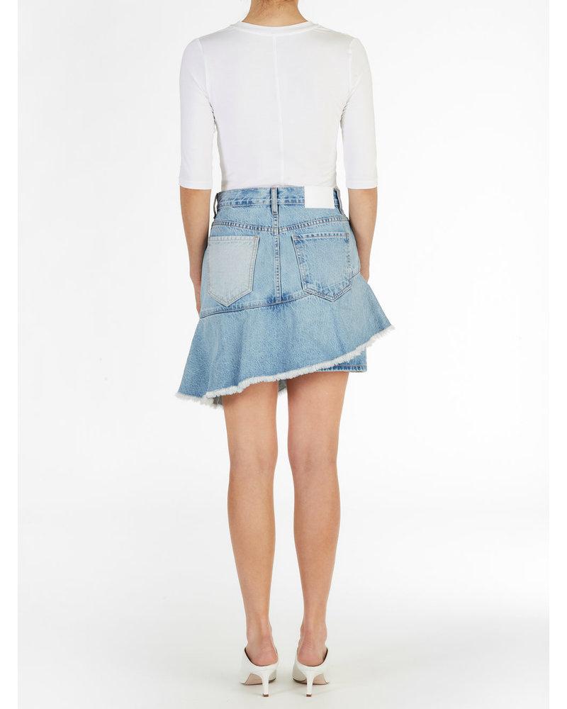 ei8htdreams Asymmetric Ruffle Skirt Denim S19