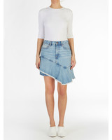 ei8htdreams Asymmetric Ruffle Skirt Denim S19