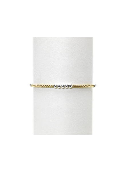 Karen Lazar 2mm Yellow Gold with 3mm Sterling Silver Mix