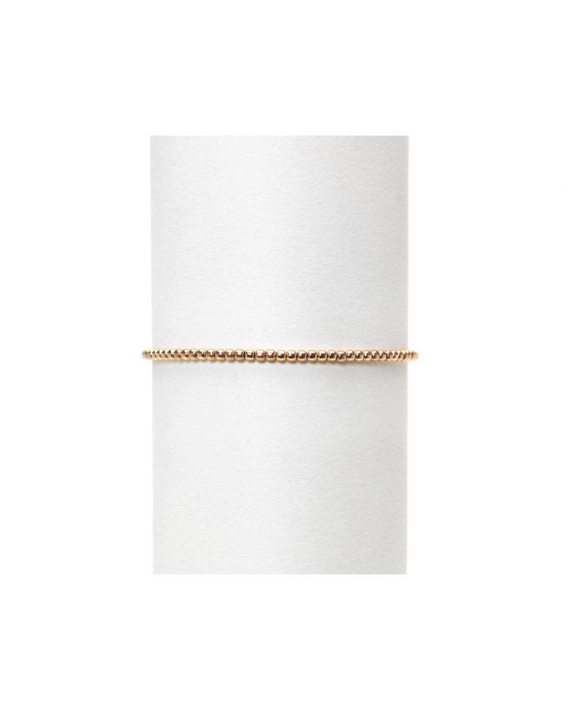 Karen Lazar 2mm Rose Gold Beaded Bracelet