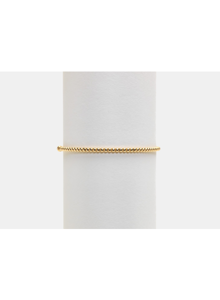 Karen Lazar 2mm Yellow Gold Beaded Bracelet