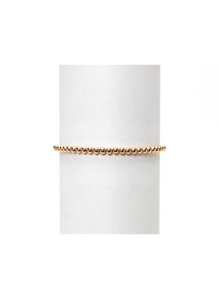 Karen Lazar 3mm Rose Gold Beaded Bracelet