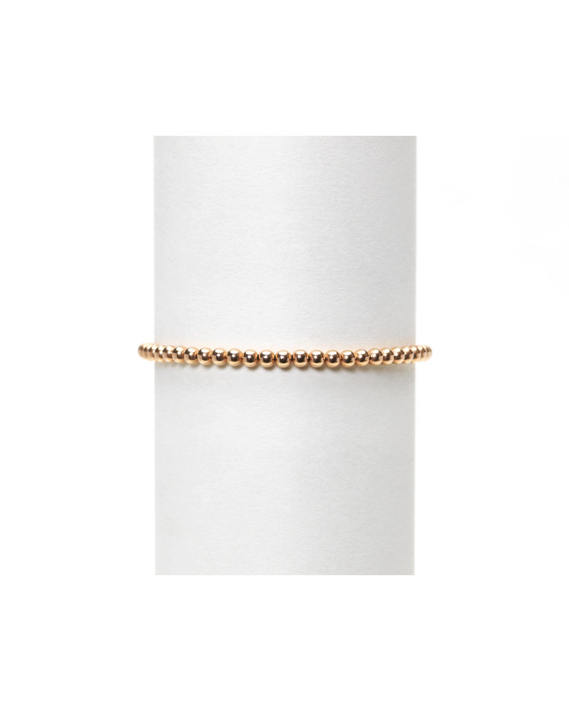 Karen Lazar 3mm Rose Gold Beaded Bracelet