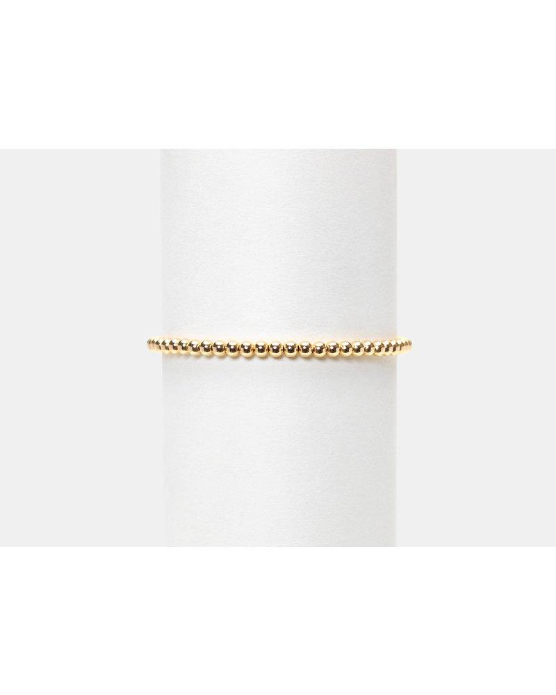 Karen Lazar 3mm Yellow Gold Beaded Bracelet