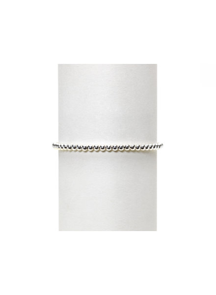 Karen Lazar 3mm Sterling Silver Beaded Bracelet