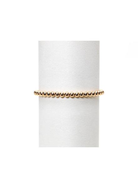 Karen Lazar 4mm Rose Gold Beaded Bracelet