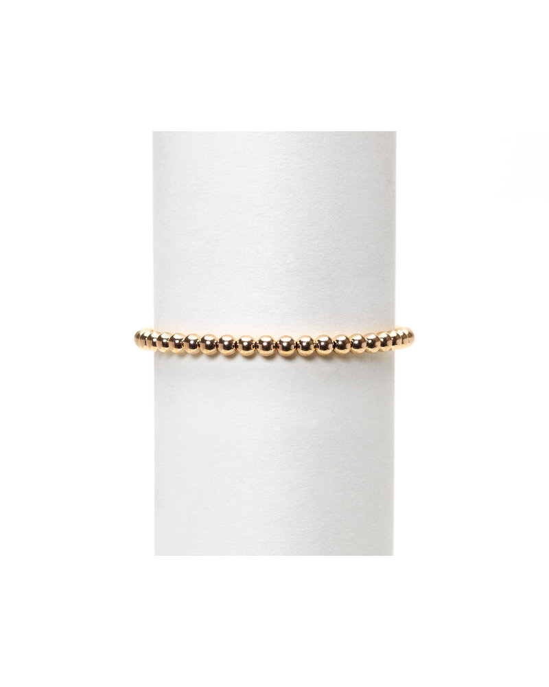 Karen Lazar 4mm Rose Gold Beaded Bracelet