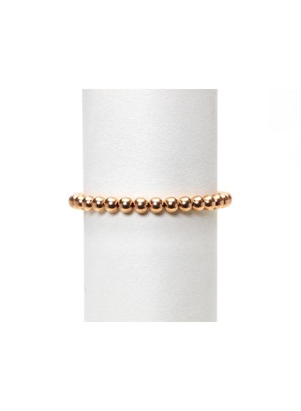 Karen Lazar 5mm Rose Gold Beaded Bracelet